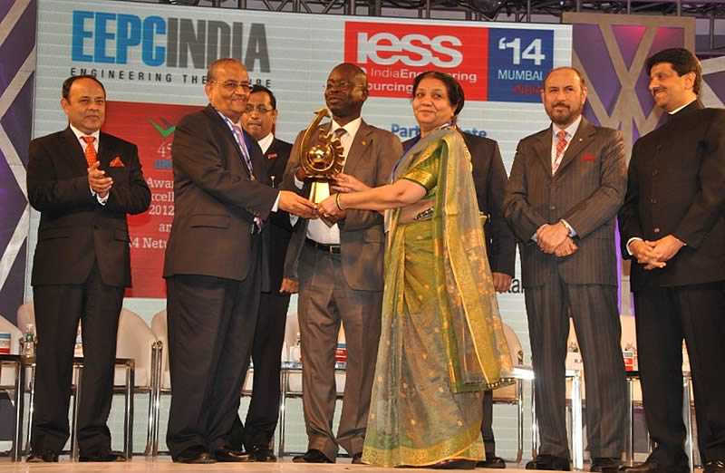 JLC wins the EEPC India National Award for 2012-13 – Top Exporter Gold Trophy given By Engineering Export Promotion Council India
