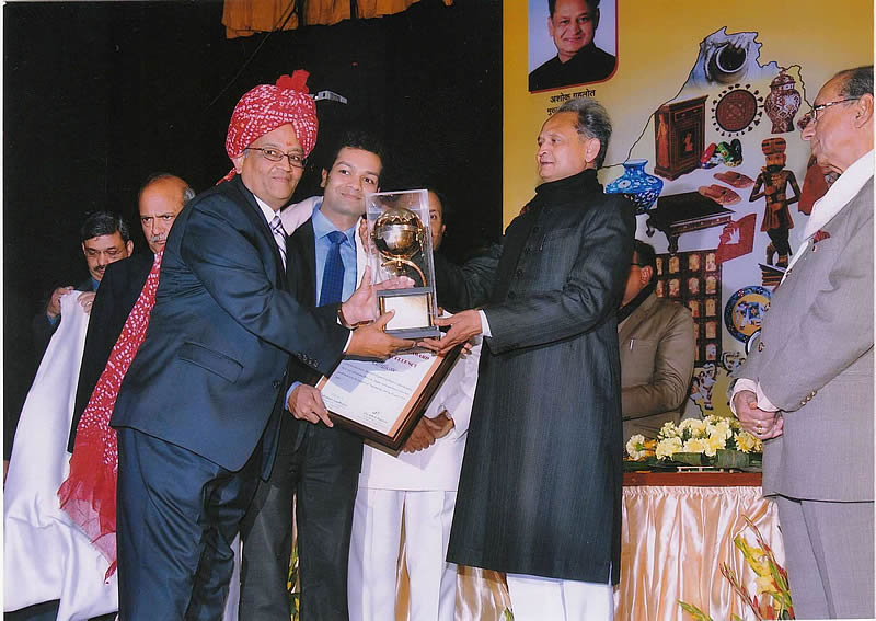 Export Performance Award by State Government of Rajasthan to JLC Electormet