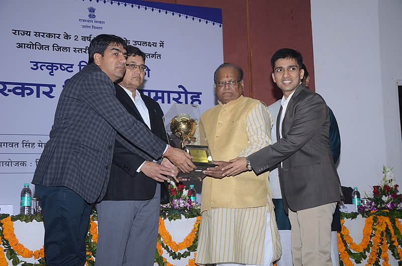 JLC Nickel Alloys wins State Award for the Year 2011-12 for Export Performance From State Government of Rajasthan